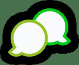 Cartoon Speech bubbles, green